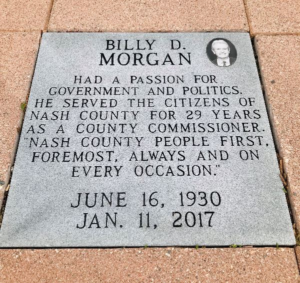 Billy Morgan Plaque
